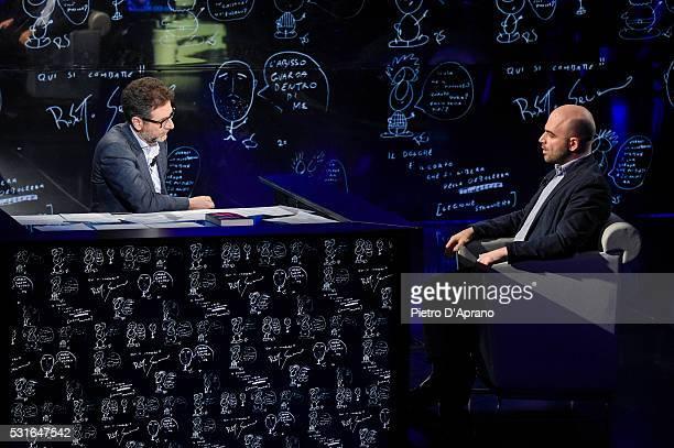 Roberto Saviano attends 'Che Tempo Che Fa' Tv Show on May 15 2016 in Milan Italy