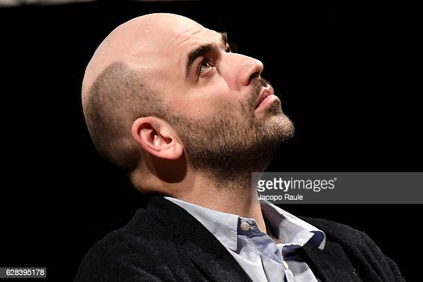 Roberto Saviano attends opening day of Noir In Festival on December 7 2016 in Como Italy