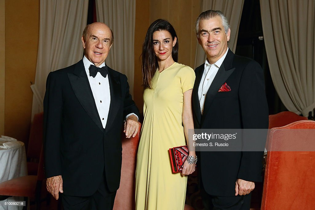 Roberto Scio, Marie Louise Scio and Harry Charles Scio attend Roberto Scio' birthday Party at La Posta Vecchia on February 13, 2016 in Paolo Laziale, near Rome, Italy.
