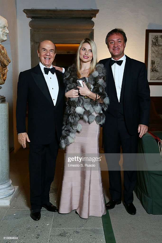 Roberto Scio, Valiska and Paolo Catalfano attend Roberto Scio' birthday Party at La Posta Vecchia on February 13, 2016 in Paolo Laziale, near Rome, Italy.