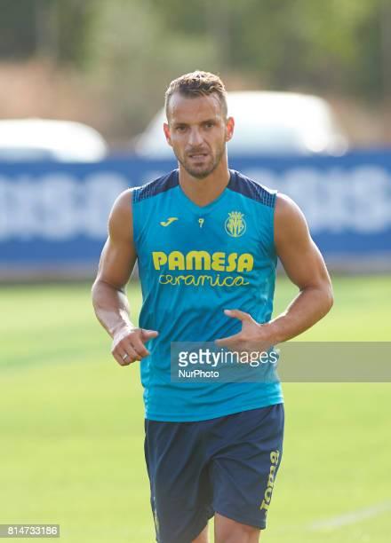 Roberto Soldado during the first week of Villarreal CF training session at Ciudad Deportiva of Miralcamp July 14 in Vilareal Spain