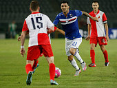 Roberto Soriano during the preliminary of Europa League match between UC Sampdoria and FK Vojvodina at the Olympic Stafium of Turin on july 30 2015...