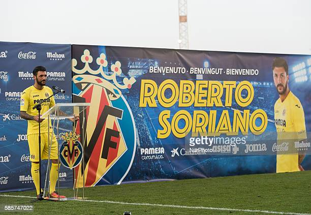 Roberto Soriano ex player of Sampdoria during his presentation as new player of Villarreal CF at Ciudad Deportiva on august