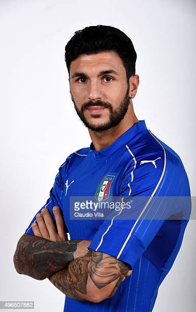 Roberto Soriano of Italy poses during the official portrait session at Coverciano on November 10 2015 in Florence Italy