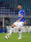 Roberto Soriano of UC Sampdoria in action during the Serie A match between UC Sampdoria and Parma FC at Stadio Luigi Ferraris on May 31 2015 in Genoa...