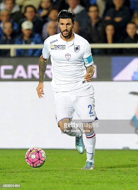 Roberto Soriano of UC Sampdoria in action during the Serie A match between Atalanta BC and UC Sampdoria at Stadio Atleti Azzurri d'Italia on...