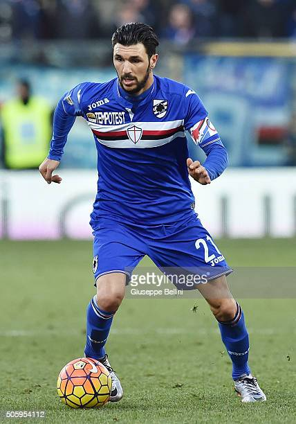 Roberto Soriano of UC Sampdoria in action during the Serie A match between Carpi FC v UC Sampdoria at Alberto Braglia Stadium on January 17 2016 in...