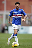 Roberto Soriano of UC Sampdoria in action during the Serire A match between UC Sampdoria and Empoli FC at Stadio Luigi Ferraris on January 11 2015 in...