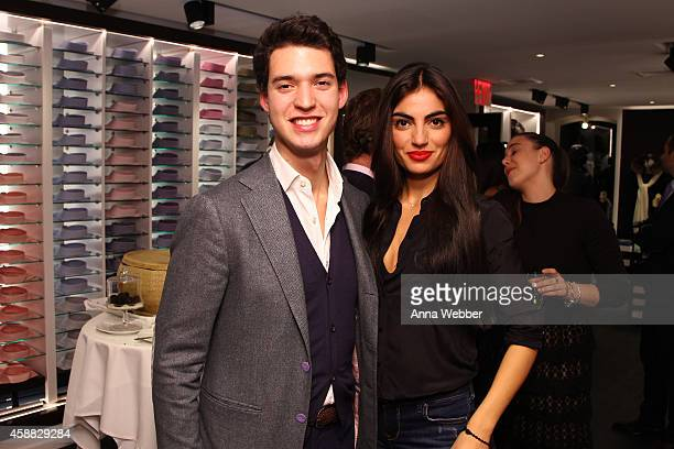 Roberto Tincati and Giovanna Patella attend DuJour magazine's premier opening event Tincati Milano Concept Store on November 11 2014 in New York City