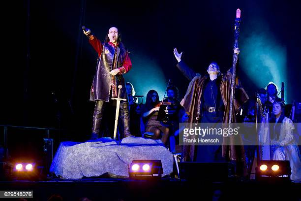 Roberto Tiranti and Ralf Bauer perform live during The Celtic Rock Opera Excalibur at the MercedesBenz Arena on December 13 2016 in Berlin Germany
