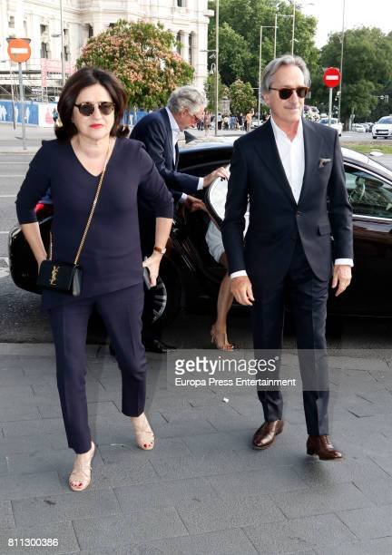 Roberto Torretta and Carmen Echevarria attend Massimo Dutti fashion show on May 31 2017 in Madrid Spain