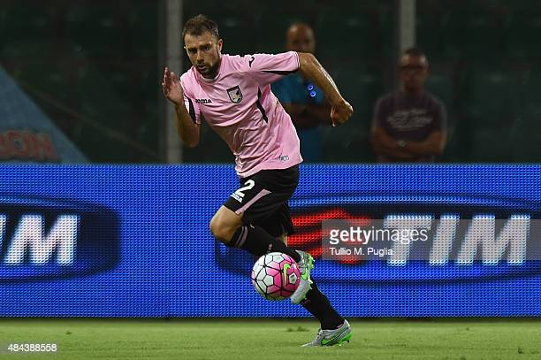 Roberto Vitiello of Palermo in action during the TIM Cup match between US Citta di Palermo and US Avellino at Stadio Renzo Barbera on August 15 2015...