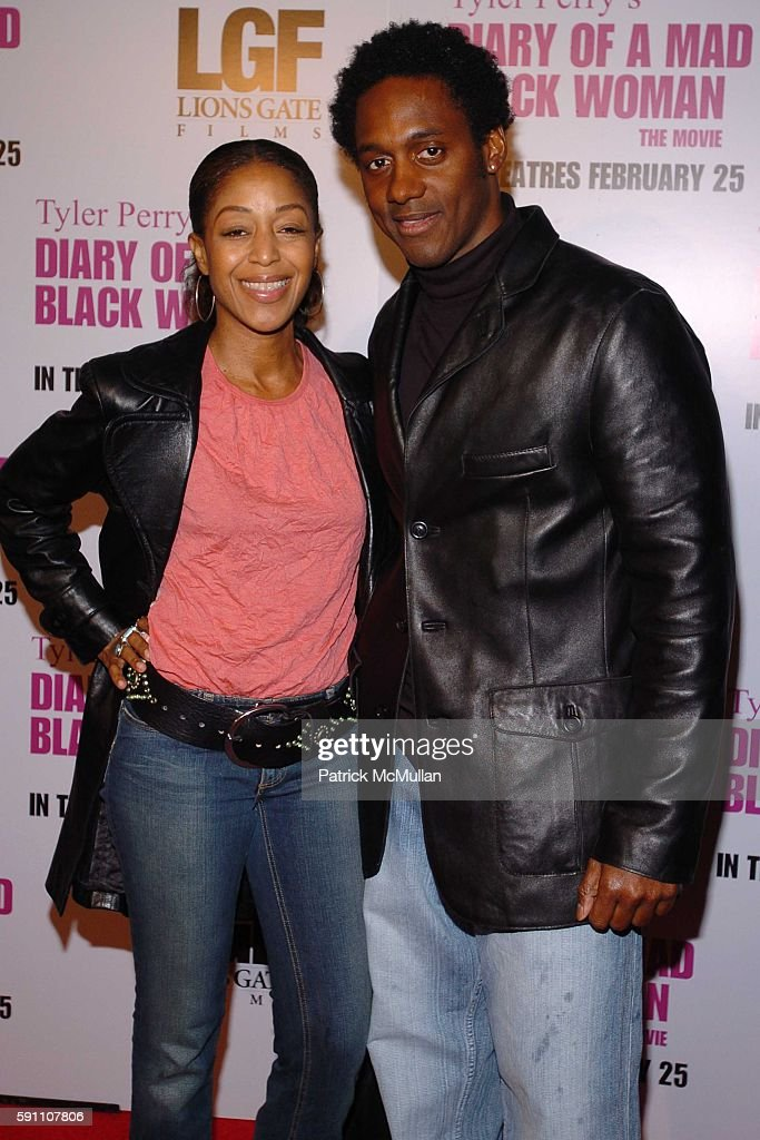 Robi Reed and Wil Young attend World Premiere of Lions Gate Films' 'Diary of a Mad Black Woman' at ArcLight Cinerama Dome on February 21 2005 in New...
