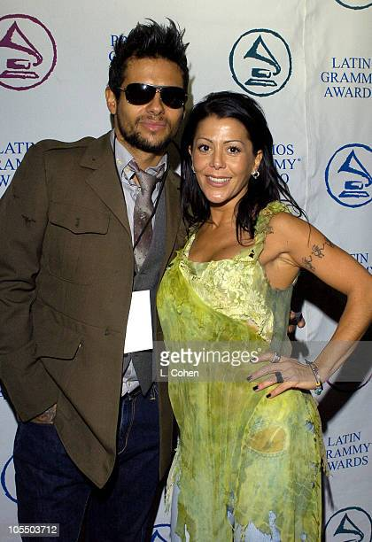 Robi Rosa and Alejandra Guzman during The 5th Annual Latin Grammy Awards Nominations Green Room at The Mayan in Los Angeles California United States