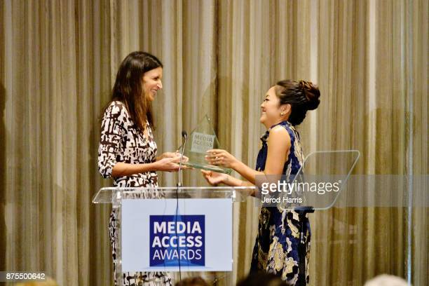 Robia Rashid and Amy Okuda attend the Media Access Awards 2017 at The Four Seasons on November 17 2017 in Beverly Hills California