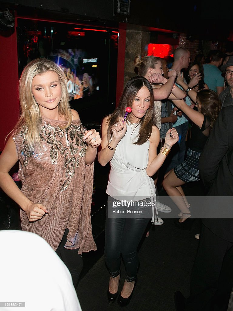Robin Antin (L) and Joanna Krupa party at Pussycat Dolls Dollhouse on February 16, 2013 in San Diego, California.