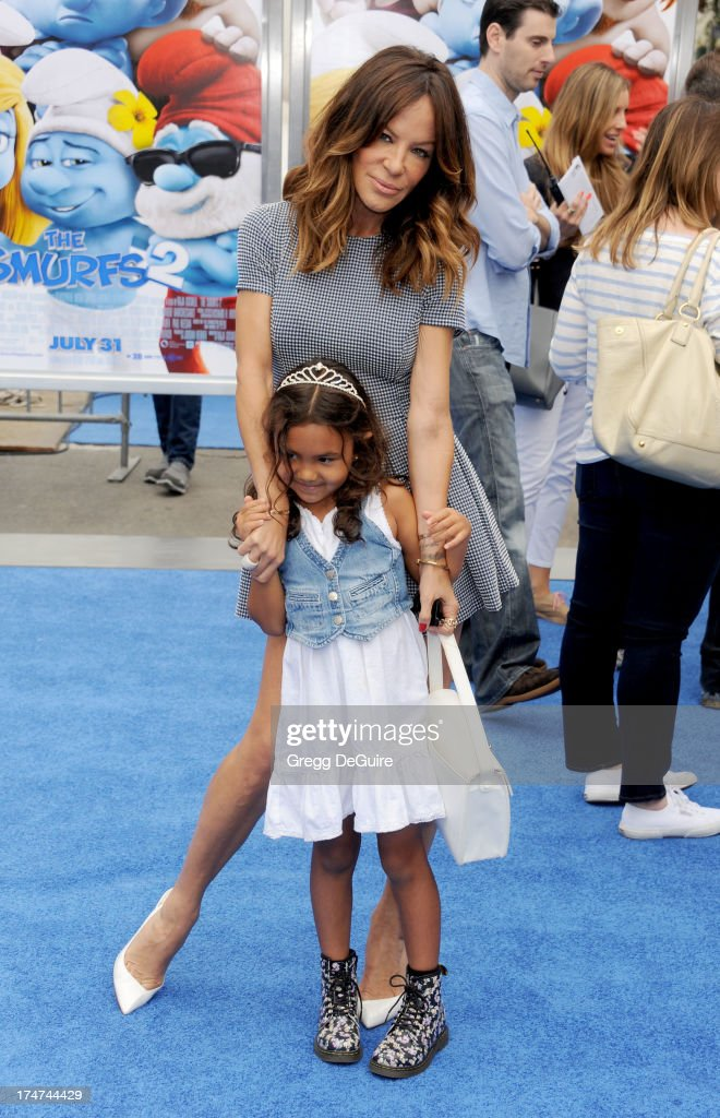 Robin Antin arrives at the Los Angeles premiere of 'Smurfs 2' at Regency Village Theatre on July 28, 2013 in Westwood, California.