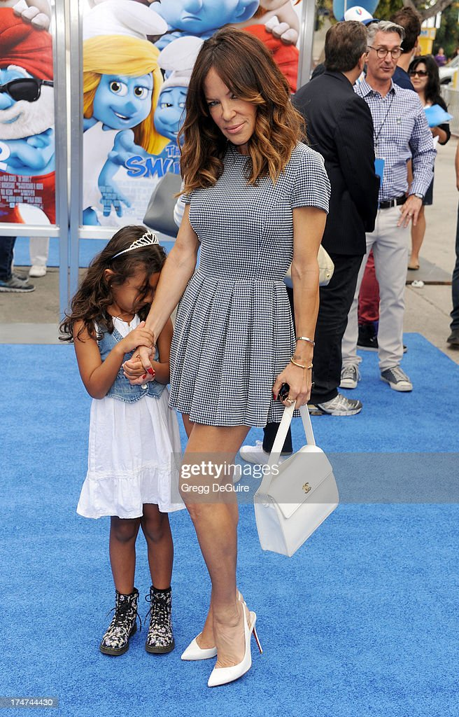 <a gi-track='captionPersonalityLinkClicked' href=/galleries/search?phrase=Robin+Antin&family=editorial&specificpeople=574713 ng-click='$event.stopPropagation()'>Robin Antin</a> arrives at the Los Angeles premiere of 'Smurfs 2' at Regency Village Theatre on July 28, 2013 in Westwood, California.