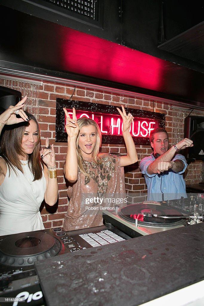 Robin Antin (L-R), Joanna Krupa and a DJ party at Pussycat Dolls Dollhouse on February 16, 2013 in San Diego, California.