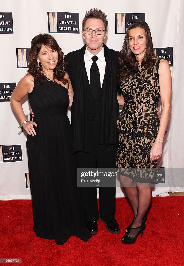 Robin Bronk (L), actor Tim Daly and Hacer Bozkurt attend The Creative Coalition's 2013 Inaugural Ball on January 21, 2013 in Washington, United States.