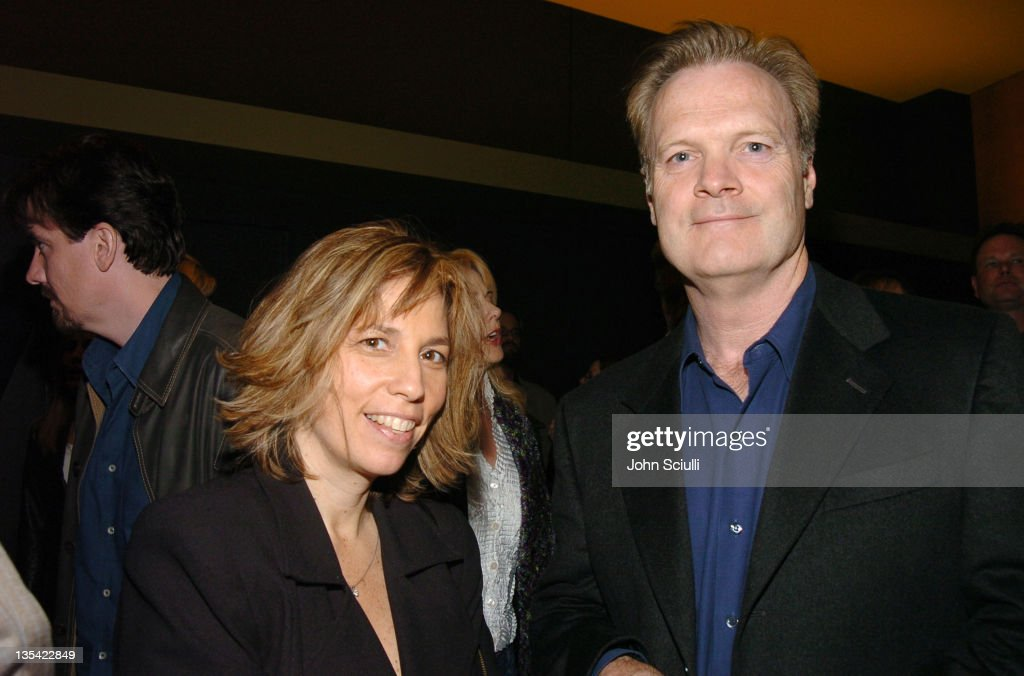 Robin Bronk and Lawrence O'Donnell during 'The Moguls' Cast and Crew Screening at Writer's Guild Theatre in Los Angeles, CA, United States.
