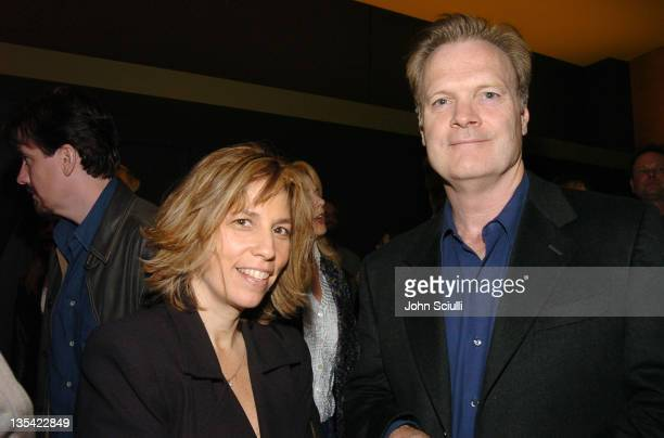 Robin Bronk and Lawrence O'Donnell during 'The Moguls' Cast and Crew Screening at Writer's Guild Theatre in Los Angeles CA United States