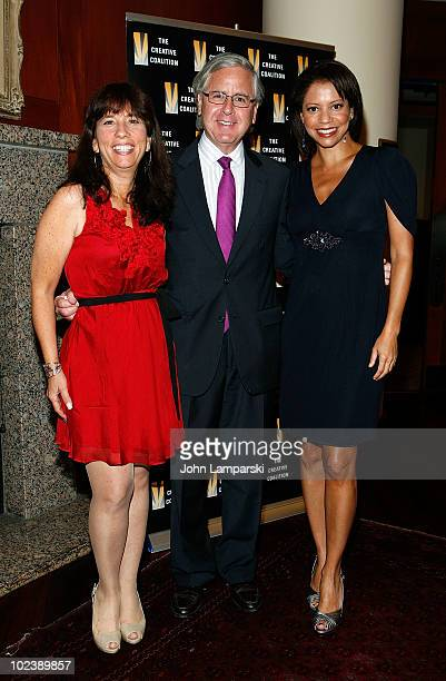 Robin Bronk Howard Fineman and Gloria Ruben attend the premiere of 'Advise Dissent' at the Brennan Center for Justice at NYU on June 24 2010 in New...