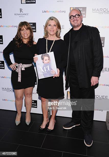 Robin Bronk Kathleen Matthews and Toni Stoeckl attend the Creative Coalition's spotlight awards dinner gala at Marquee on October 14 2014 in New York...