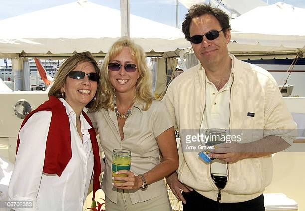 Robin Bronk Lisa Tremain Max Keiser during Cannes 2002 The Creative Coalition Party Hosted by Hollywood Yacht sponsored by Hollywood Celebrity Diet...