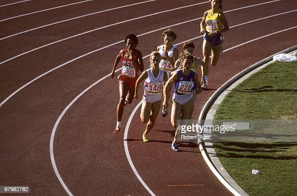 Robin Campbell of the United States Lorraine Baker of Great Britain and Gabriella Dorio of Italy lead the pack followed by Margrit Klinger of West...