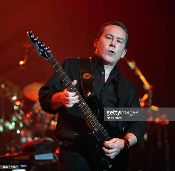 Robin Campbell of UB40 performs on stage at Southampton Guildhall on November 19 2010 in Southampton England