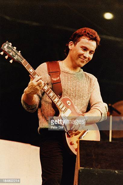 Robin Campbell of UB40 performs on stage at Wembley Stadium on July 4th 1984 in London England