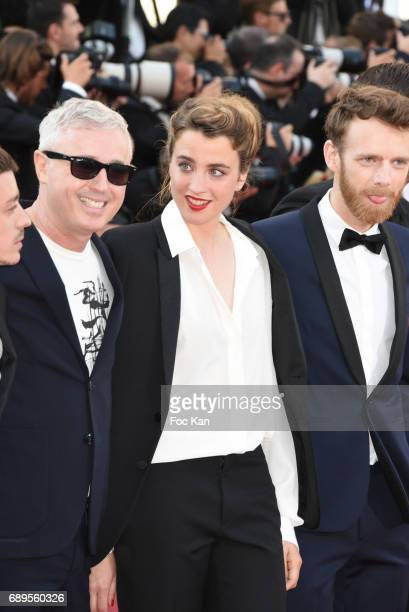 Robin Campillo Adele Haenel and Arnaud Valois attend the Closing Ceremony during the 70th annual Cannes Film Festival at Palais des Festivals on May...