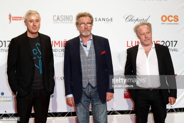 Robin Campillo Robert Guediguian and guest attend opening ceremony of 9th Film Festival Lumiere In Lyon on October 14 2017 in Lyon France