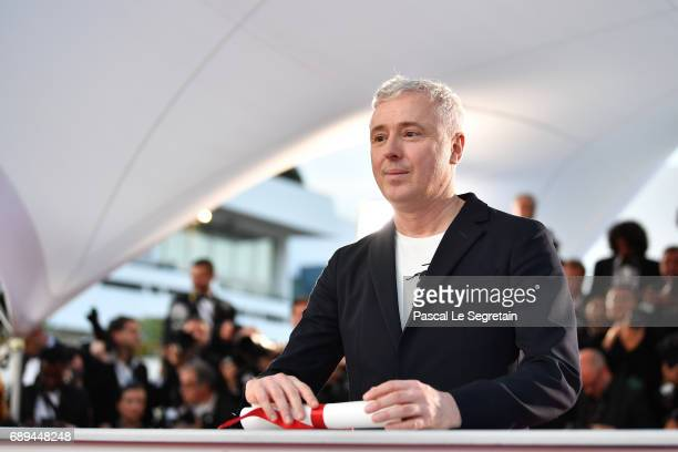 Robin Campillo winner of the Grand Prix for the movie '120 Beats Per Minute' attends the Palme D'Or winner photocall during the 70th annual Cannes...
