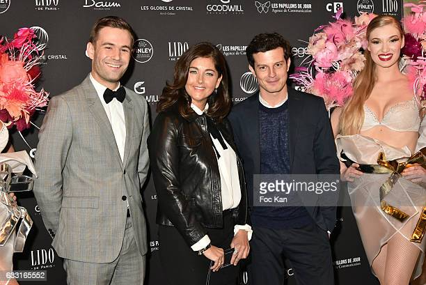 Robin Causse Cristiana Reali and Charles Templon attend Les Globes de Cristal Awards 11th Ceremony at Lido on January 30 2017 in Paris France