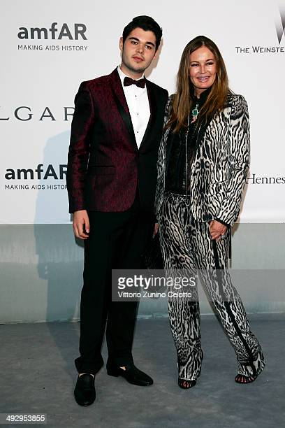 Robin Cavalli and Eva Cavalli attend amfAR's 21st Cinema Against AIDS Gala Presented By WORLDVIEW BOLD FILMS And BVLGARI at Hotel du CapEdenRoc on...