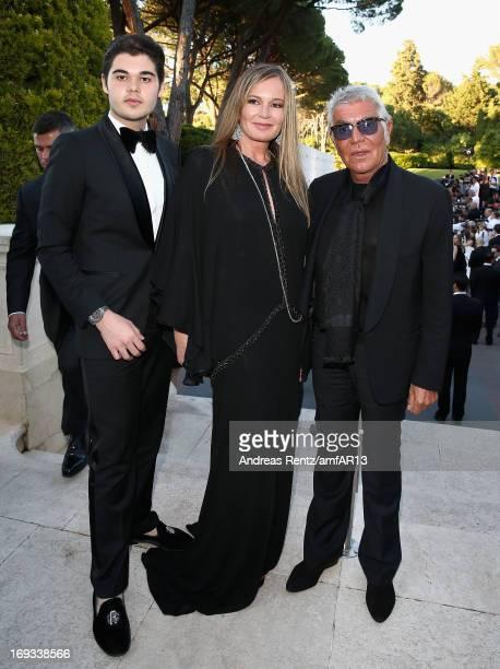 Robin Cavalli Eva Cavalli and Roberto Cavalli attend amfAR's 20th Annual Cinema Against AIDS during The 66th Annual Cannes Film Festival at Hotel du...