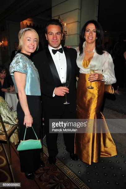 Robin Cofer Roys Poyiadjis and Donna Poyiadjis attend WOMEN'S PROJECT Gala at Pierre Hotel on March 2 2009 in New York