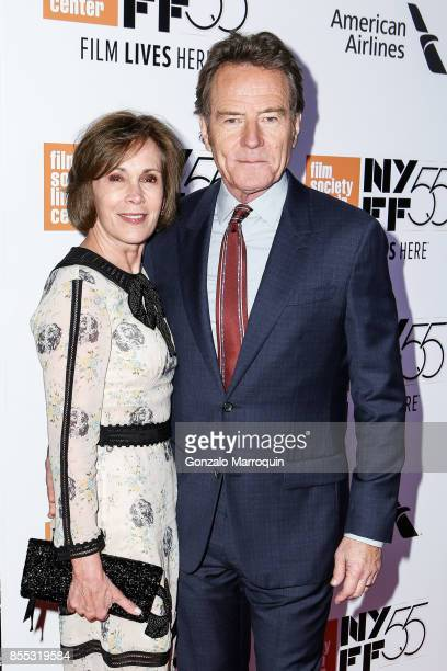 Robin Dearden and Actor Bryan Cranston attend the 55th New York Film Festival Opening Night Premiere Of 'Last Flag Flying' at Alice Tully Hall...