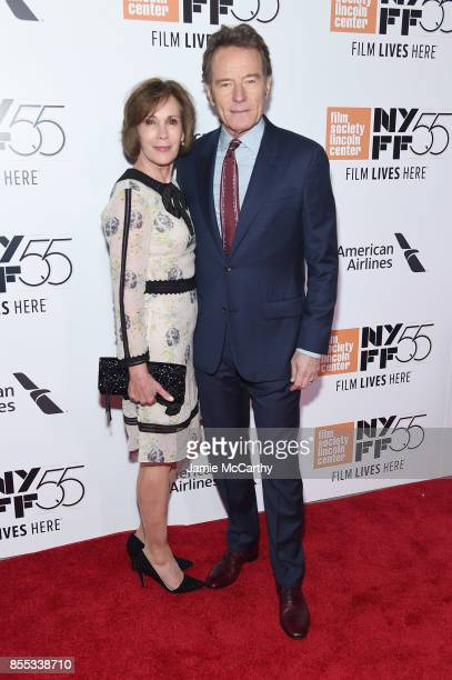 Robin Dearden and Bryan Cranston attend the opening night premiere of 'Last Flag Flying' during the 55th New York Film Festival at Alice Tully Hall...