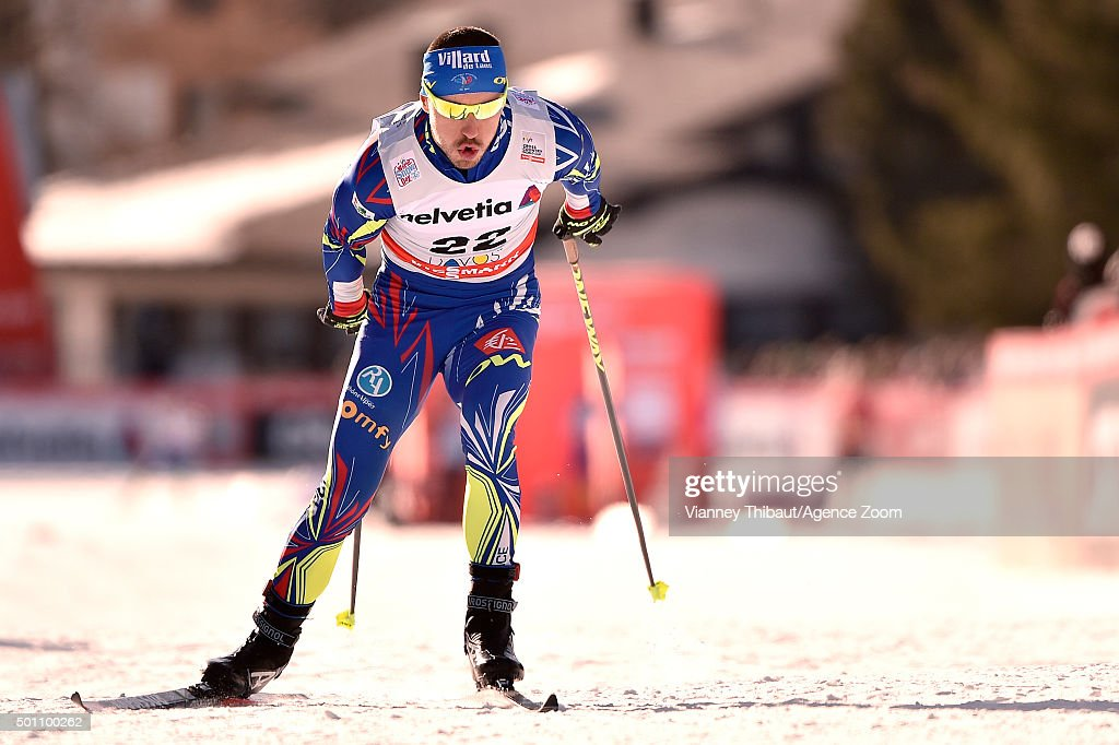 <a gi-track='captionPersonalityLinkClicked' href=/galleries/search?phrase=Robin+Duvillard&family=editorial&specificpeople=6680782 ng-click='$event.stopPropagation()'>Robin Duvillard</a> of France competes during the FIS Nordic World Cup Men's and Women's Cross Country Distance on December 12, 2015 in Davos, Switzerland.
