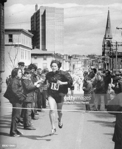 Robin Emery wins the Boys Club Patriots Day road race in Portland Maine circa 1978