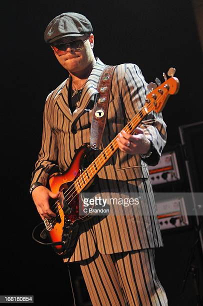 Robin Everhart of Rival Sons performs on stage at O2 Shepherd's Bush Empire on April 9 2013 in London England