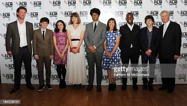 Robin Fox Craig Robert Yasmin Paige Lydia Fox Richard Ayoade Amina Dasmal Kobna HoldbrookSmith Jesse Eisenberg and James Fox attend a screening of...