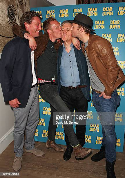 Robin Fox Laurence Fox James Fox and Jack Fox attend an after party following the press night performance of 'Dear Lupin' at the Ham Yard Hotel on...