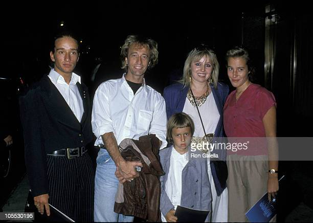 Robin Gibb and family during 'The Abyss' New York City Premiere at Radio City Music Hall in New York City New York United States
