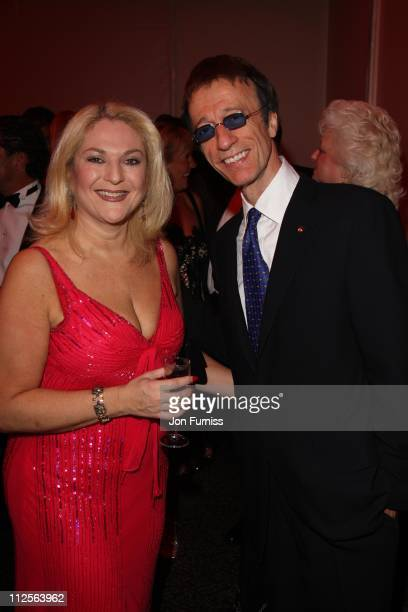 Robin Gibb and Vanessa Feltz attends the The Archant London Press Ball on November 17 2007 in London