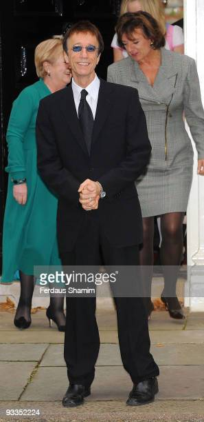 Robin Gibb attends a photocall ahead of 'The Diana Award' ceremony at Downing Street on November 24 2009 in London England