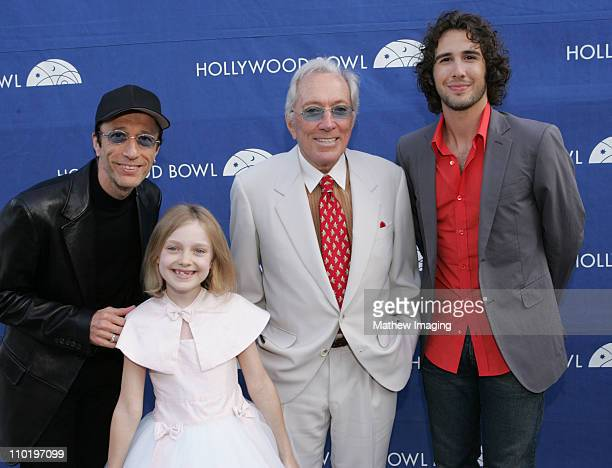 Robin Gibb Dakota Fanning Andy Williams and Josh Groban